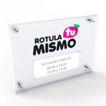 Doble Placa de metacrilato para horario
