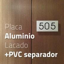 Placa aluminio + PVC