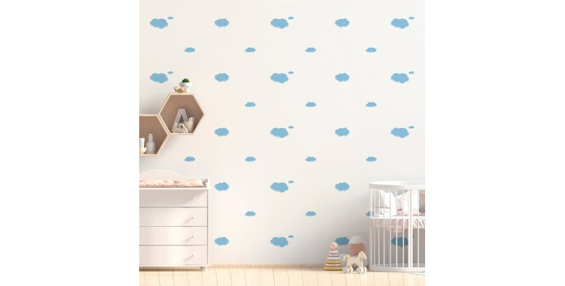 Vinilo Infantil Nubes