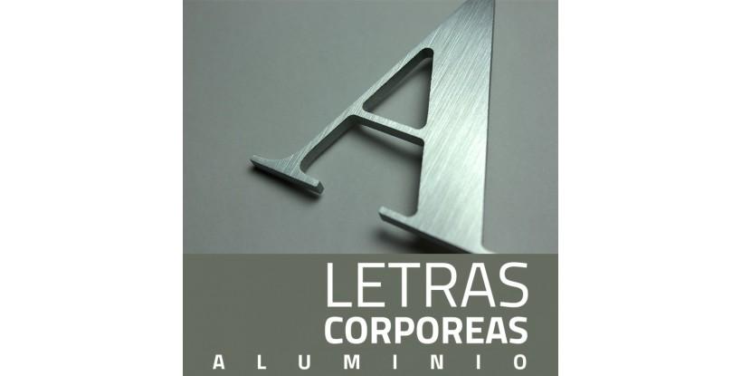 Letras Corpóreas Doradas de Aluminio