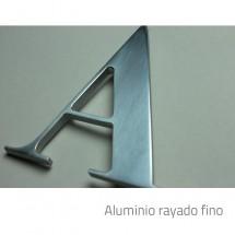 letras corpóreas aluminio
