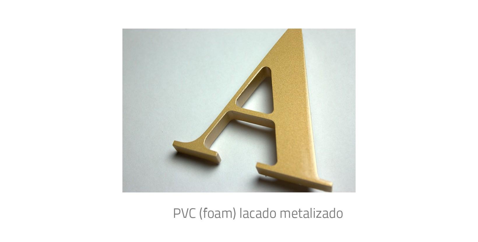 letras corpóreas PVC Metalizadas