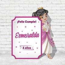Cuadro Princesa de cumpleaños