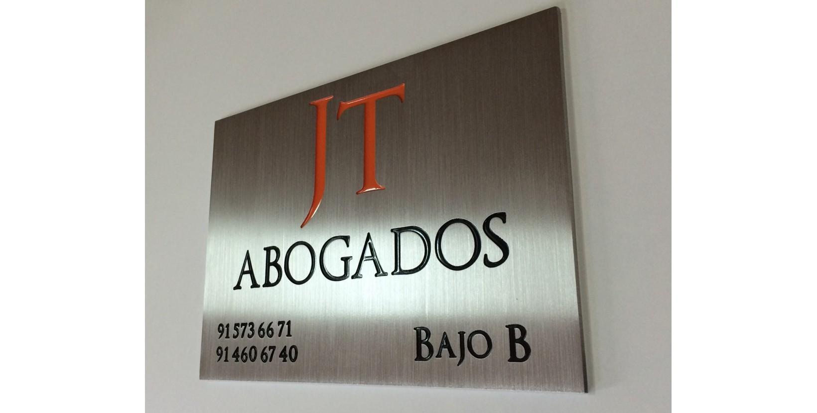 Placa aluminio grabado | Placas grabadas | Placa grabada abogados ...