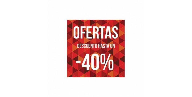 Cartel ofertas -40% triángulos