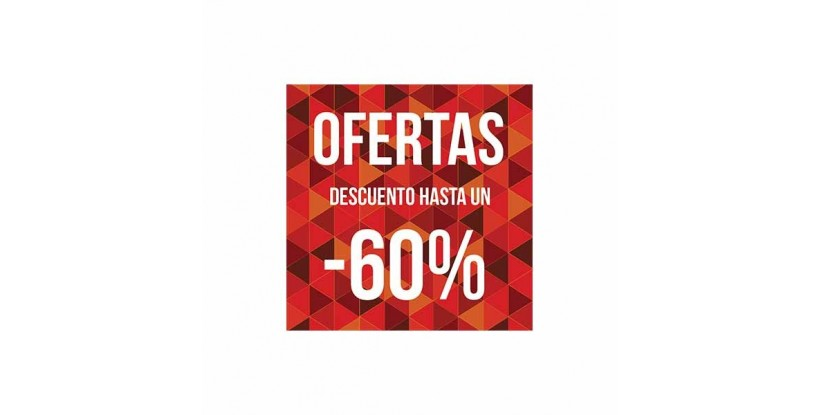 Cartel ofertas -60% triángulos