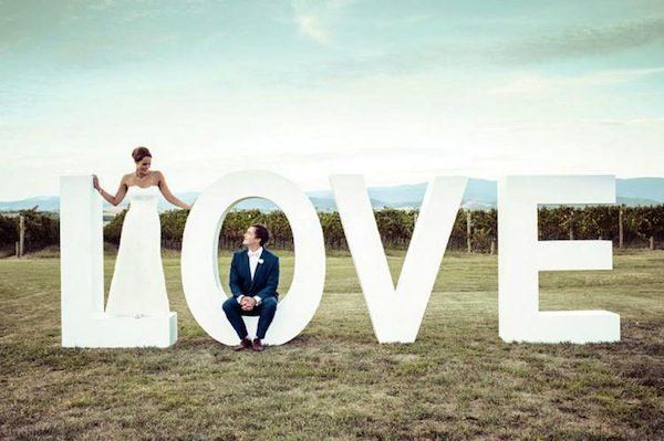 Letras boda baratas - Decorar letras de corcho blanco ...
