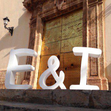 letras para bodas poliespán