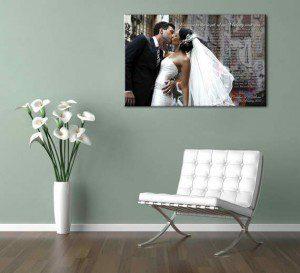 foto lienzo boda