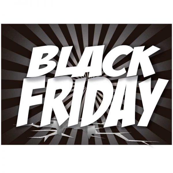 Cartel letrero de rebajas Black Friday