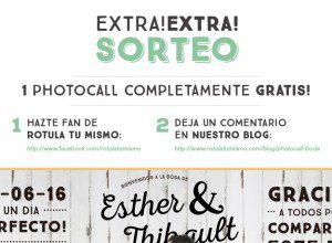 Sorteo Photocall de boda gratis