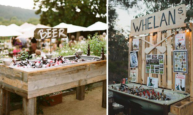 Ideas originales para bodas. Barra libre de cervezas bañera antigua