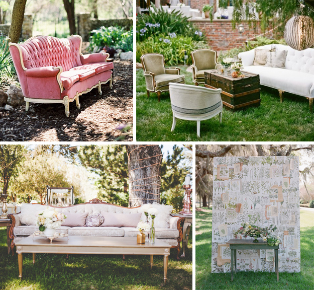 Ideas originales para bodas. Muebles antiguos para bodas