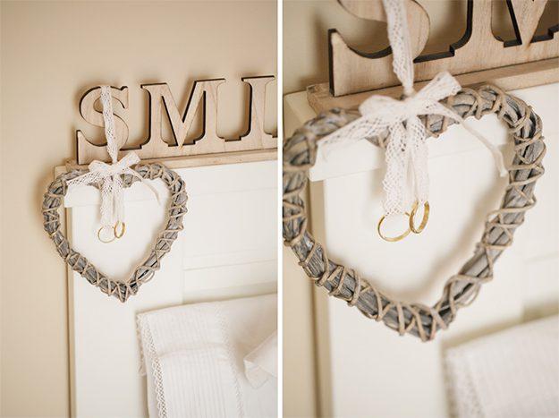 Porta alianzas rústico. Ideas originales para bodas.