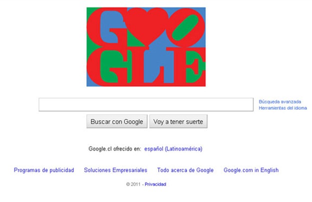 LOVE Doodle Google
