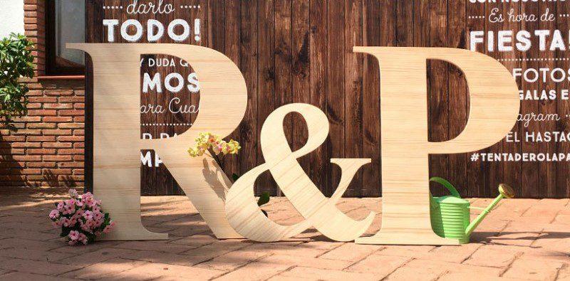letras de madera para boda