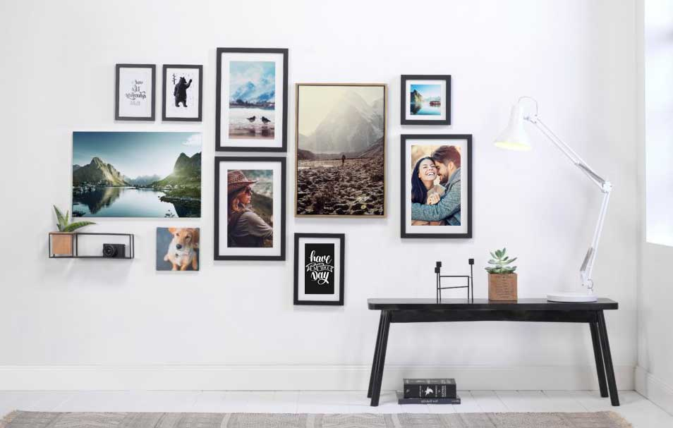 cuadros para mural de fotos perfecto
