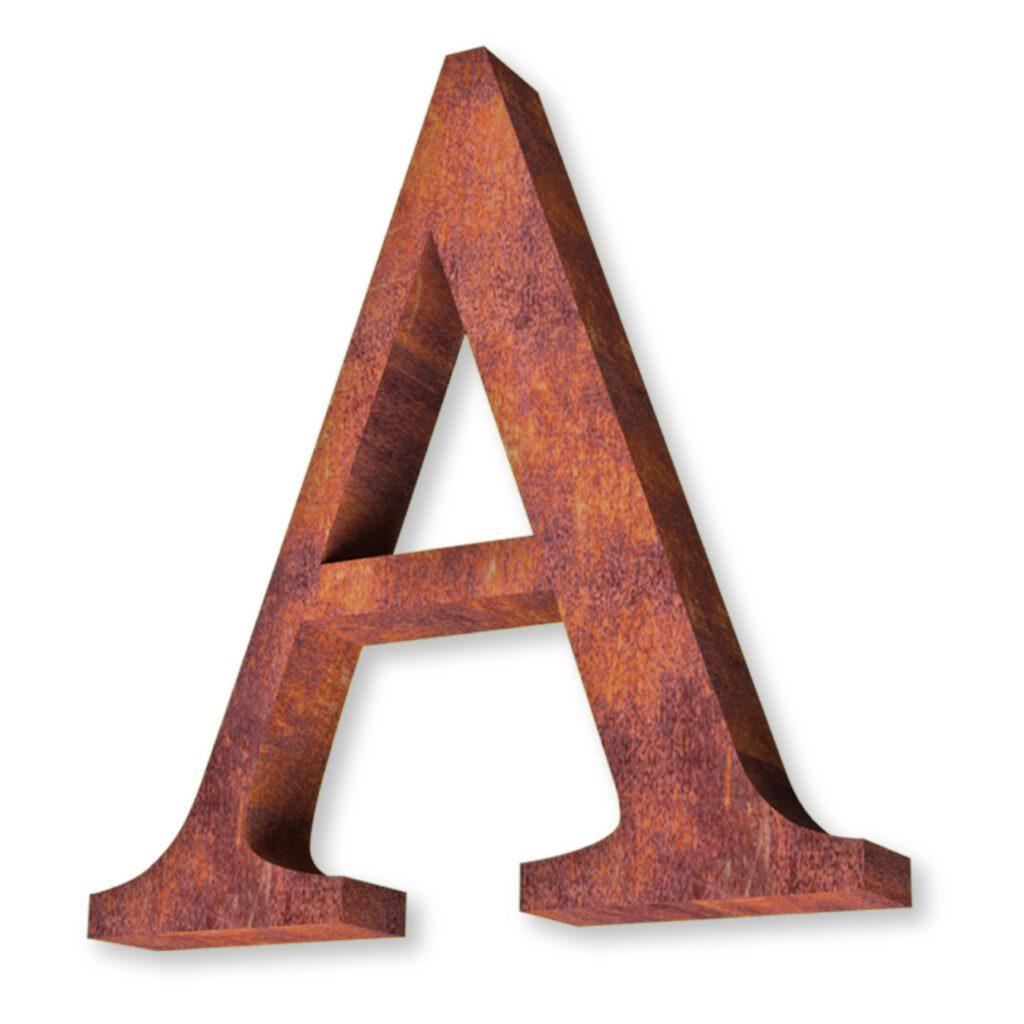 acero corten letras
