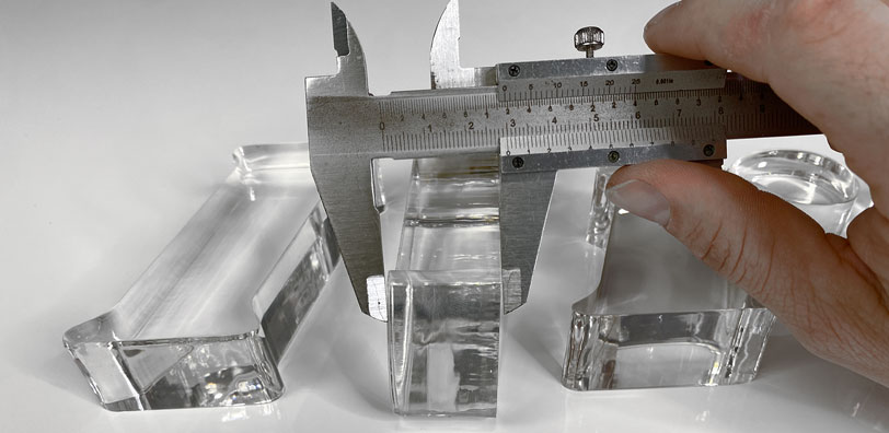 Corte metacrilato laser 30mm