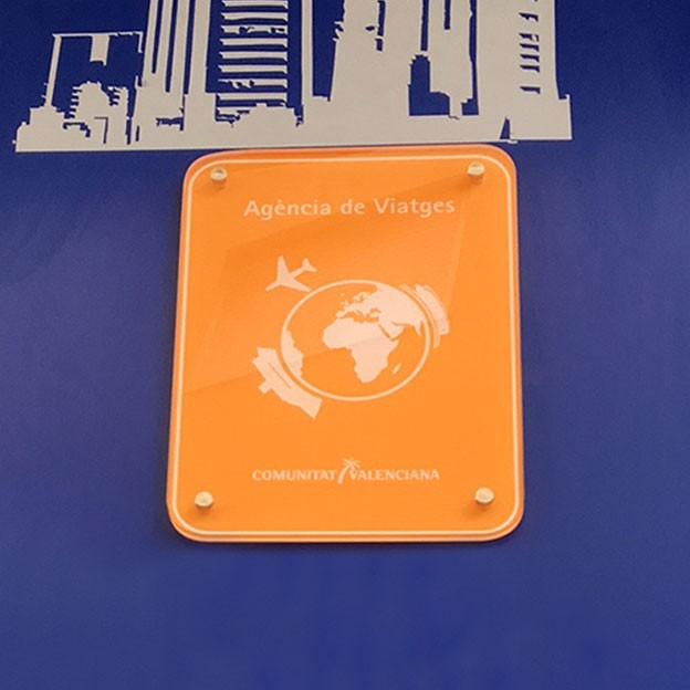 Placa distintivo homologada para agencia de viajes de la Comunitat Valenciana