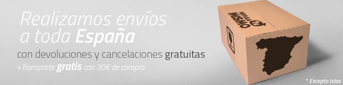 Enviamos nuestros rótulos luminosos a toda España